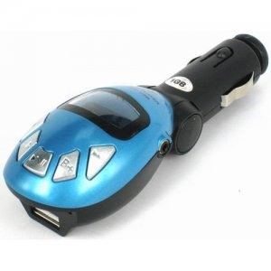 FM Transmitter Car MP3 with Remote control - Blue